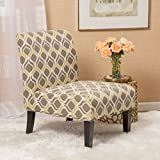 Kalee Yellow and Grey Print Fabric Dining Chair