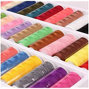 Sewing Thread Sewing Industrial Machine And Hand Stitching Cotton Sewing Thread Set of 39-Colors 402 Fine