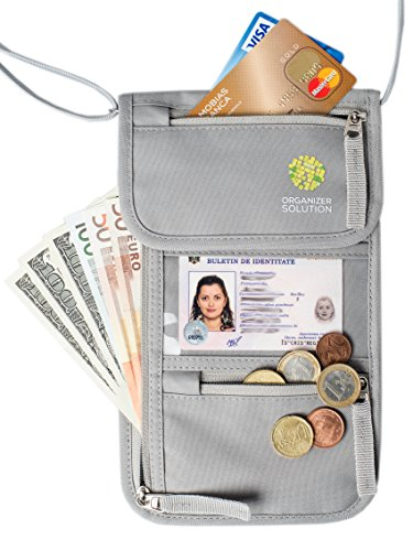 Passport Holder by Organizer Solution, Travel Wallet with Rfid, Neck Pouch