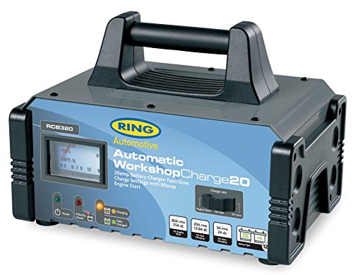 Ring Automotive RCB320 Fully Auto Battery Charger/Engine Start Metal Case,...