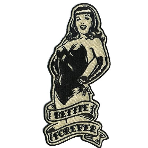 Bettie Page Forever Pin Up Girl Patch Embroidered Iron On -