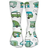Style Unisex Socks Casual Knee High Stockings Pit Bull Smile Cotton Socks One Size