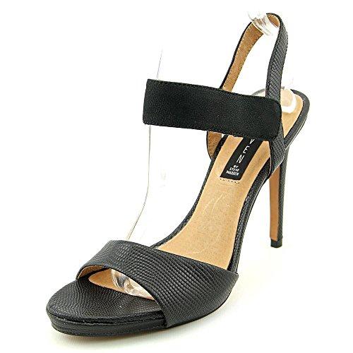 STEVEN by Steve Madden Frauen RAZLE Offener Zeh besonderer Anlass Leder  Sandalen mit Absatz Black