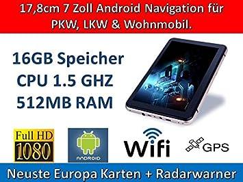 17,8 cm 17.78 cm con Android 4.4, coche, GPS, navegador GPS