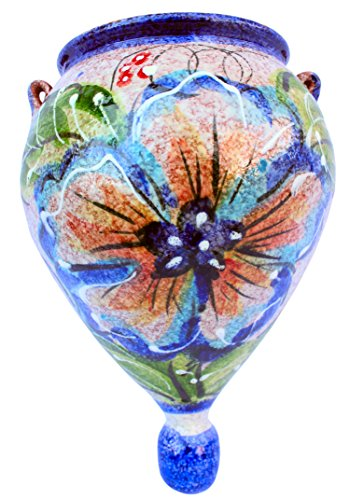 Wall Flower Pot – Spanish Orza (Spanish Daffodil) – Hand Painted in Spain For Sale