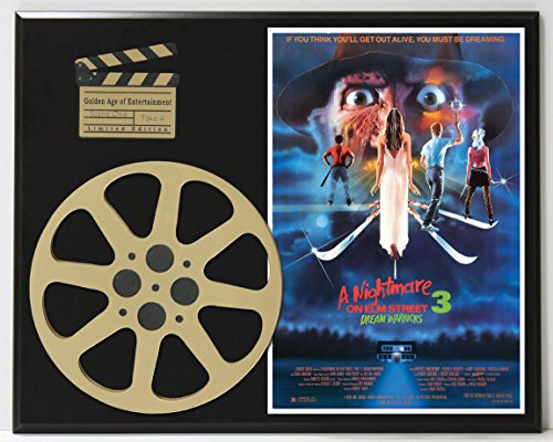 A NIGHTMARE ON ELM STREET 3 DREAM WARRIORS LIMITED EDITION MOVIE REEL DISPLAY