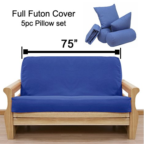 Diamond Russet Futon Cover Full 5pc Pillow set 54 by SlipcoverShop