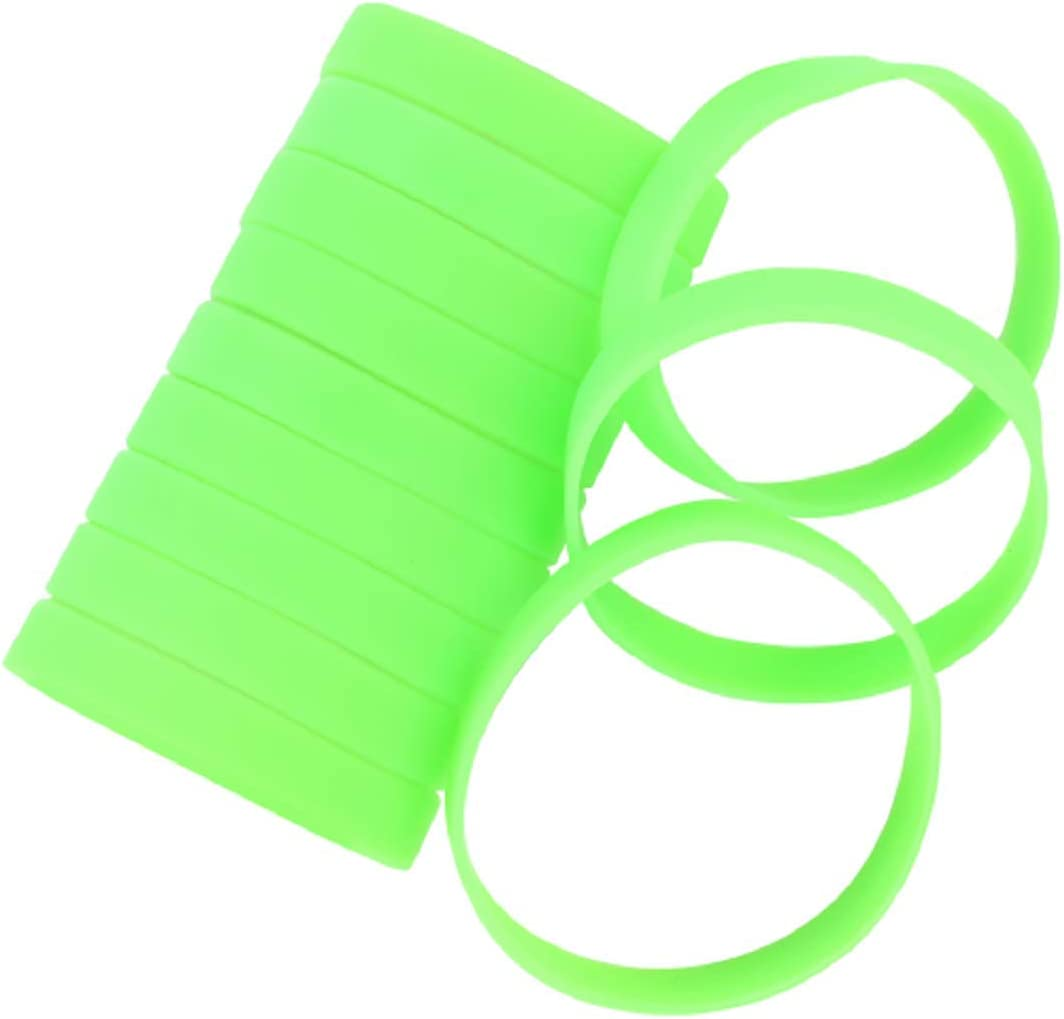 MoMolly 12Pcs Light Green Silicone Wristband Bracelet Blank Sports Wristbands Rubber Personalized Custom Wrist Bracelets