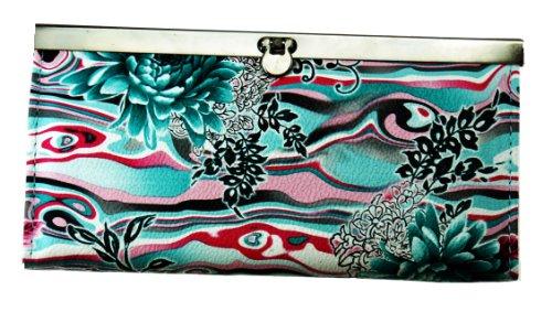 Unique Wild Flower Design Clutch Wallet for Women - Clutch Accordian