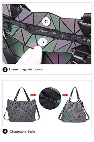 Geometry Women Small Bag Hologram Plain Rainbow Bag Folding Big Laser Handbags Rainbow U4Uwxqr5