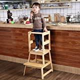 SDADI Kids Kitchen Step Stool with Safety Rail