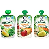 Gerber Organic 2nd Food Pouches, Fruit and Veggie Variety Pack 2, 3.5 Ounce, 18 count