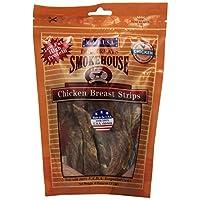 Tiras de pechuga de pollo naturales 100% por ciento de Smokehouse para perros, 4 onzas