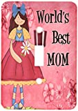 3dRose lsp 40744 1 Worlds Best Mom in - Best Reviews Guide