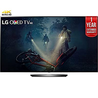 "LG OLED55B7A B7A Series 55"" OLED 4K HDR Smart TV (2017 Model) + 1 Year Extended Warranty (Certified Refurbished)"