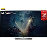 LG OLED55B7A B7A Series 55 OLED 4K HDR Smart TV (2017 Model) + 1 Year Extended Warranty (Certified Refurbished)