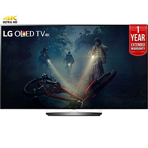 LG OLED55B7A B7A Series 55' OLED 4K HDR Smart TV (2017 Model) + 1 Year Extended Warranty (Certified Refurbished)