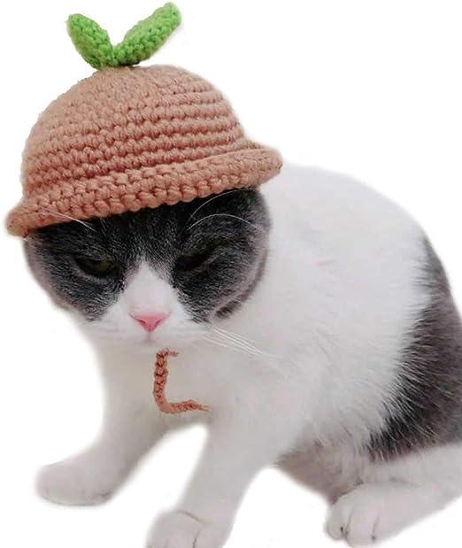 LRKZ Capucha para Gatos, Gorro para Mascotas Tejido A Mano ...