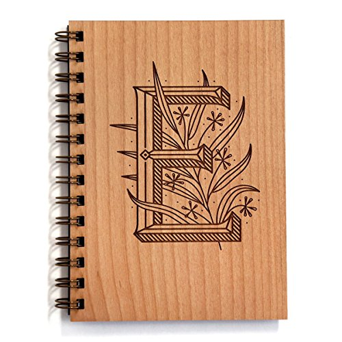 itial Laser Cut Wood Journal - Other Letters Available (Notebook/Birthday Gift/Gratitude Journal/Mother's Day Gift/Handmade) ()