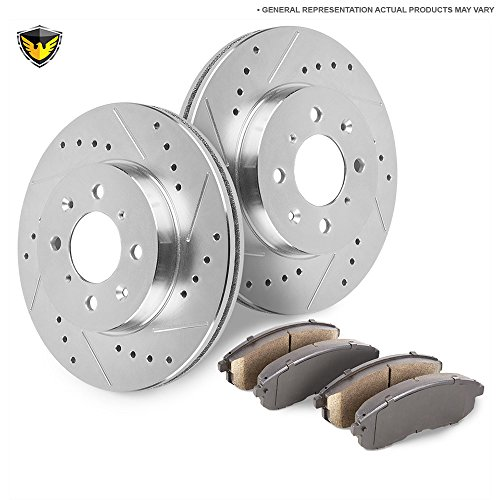 Duralo Front Brake Pad Rotor Kit For Ford Excursion F250 & F350 Super Duty 2WD - Duralo 153-5735 New (D756 Front)