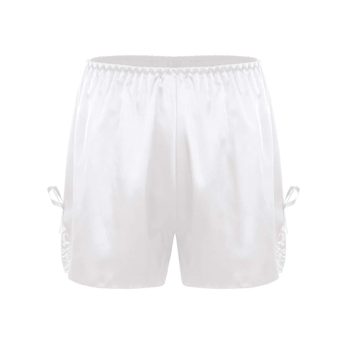 Freebily Womens Satin French Knickers Boxer Shorts Silk Lingerie Underwear Home Sleepwear Under Pants