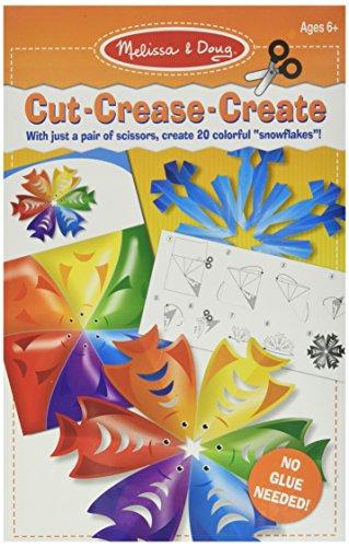 Melissa & Doug Cut-Crease-Create Snowflakes Play Set ()
