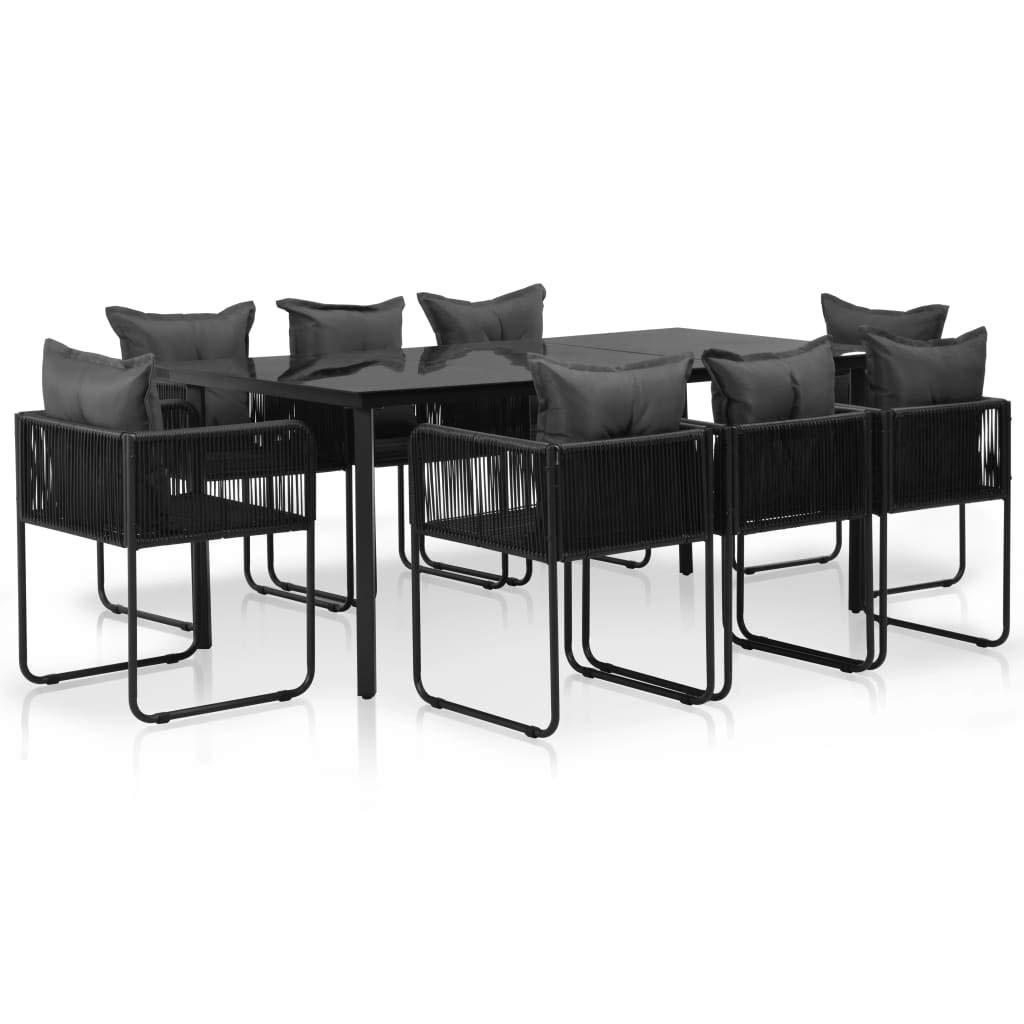 vidaXL Gartenmöbel 17-TLG. Poly Rattan Sitzgruppe Gartengarnitur Sitzgarnitur