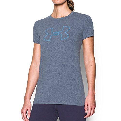 Under Armour Women's Big Logo Short Sleeve T-Shirt,Midnight Navy Light (411)/Carolina Blue, X-Small
