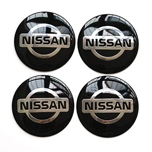 4PCS 65mm 2.56'' Auto Car Sticker Wheel Center Hub Cap Logo Aluminium fit for Nissan