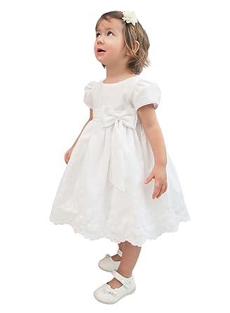 aa2b6d0ba03 Boutique-Magique Robe de baptême bébé Fille  Amazon.fr  Vêtements et ...