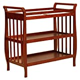 Dark Wood Crib with Changing Table DaVinci Emily Changing Table II, Cherry