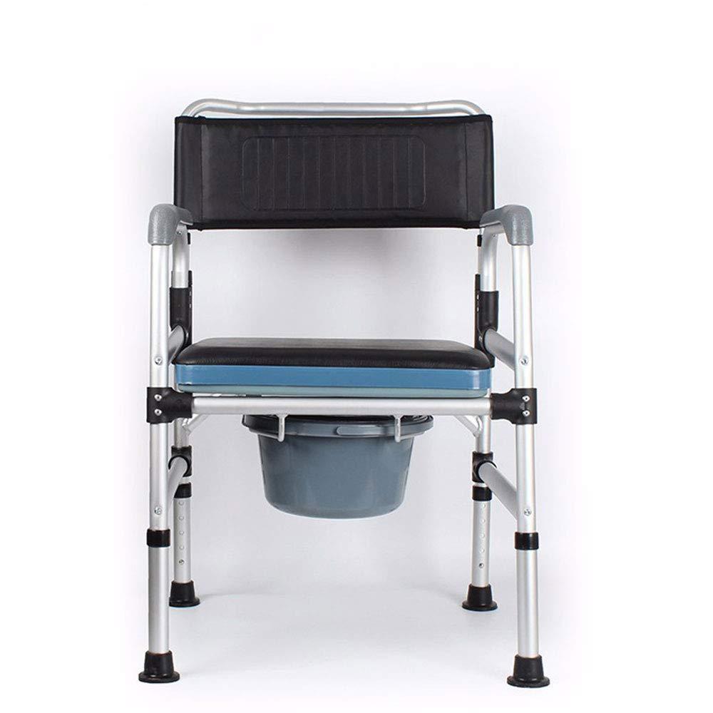 - HJJKERLCBP Soins de santé multifonctionnels de Soins Infirmiers de Soins de santé Se Pliant réglable Chaise de Toilette Pliable avec Pot