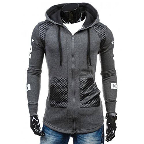 Price comparison product image HOT Sale,AIMTOPPY Men Leather Winter Warm Hooded Windproof Sweatshirt Coat Jacket Outwear (xl, Grey)