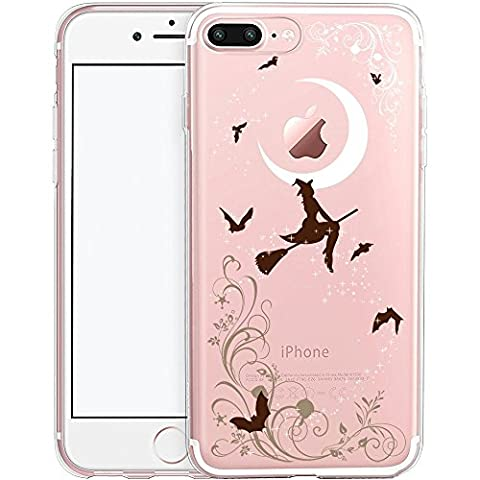 iPhone 7 Plus Case, SwiftBox Cute Cartoon Case for iPhone 7 Plus (Halloween Witches)