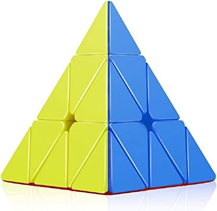 Direction High Speed Pyraminx Stickerless Triangle Rubik Cube Puzzle (Multicolor)