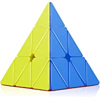 Fiddlys High Speed Pyraminx Stickerless Triangle Rubik Cube Puzzle