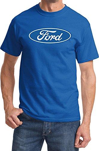 Ford Oval Logo Emblem T-Shirt Ford Men's Shirts, Royal, XL