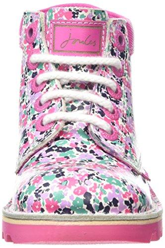 Kickers Mädchen Kick Hi JS Kurzschaft Stiefel Weiß (White/pink)