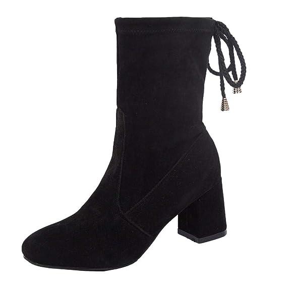 Luckycat Zapatos de mujer Botines Zapatos de Mujer Tacones