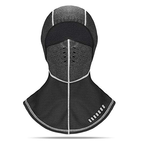 - ARCEED Balaclava Winter Ski Face Mask Long Neck Design Thermal Windproof Breathable for Men Women Black Grey