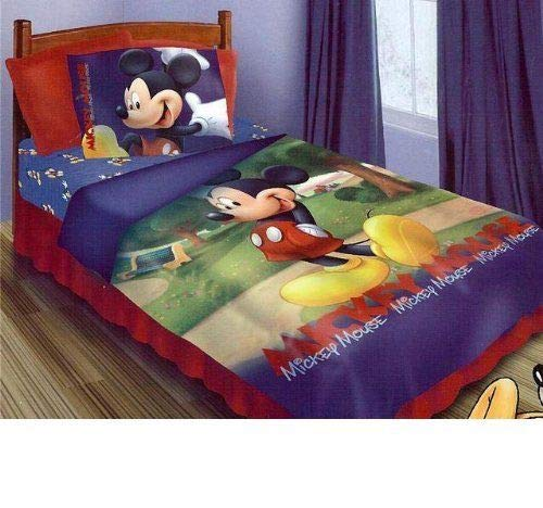 4 Pc Mickey Clubhouse Twin Bedding Set