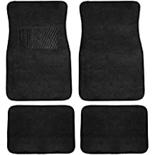 FH Group F14403BLACK Black Carpet Floor Mat with Heel Pad (Deluxe)