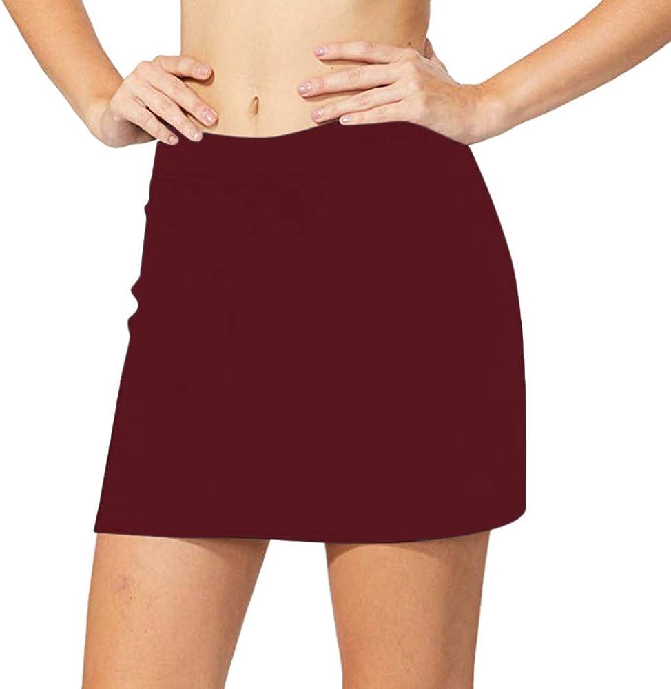 Falda de tenis de golf con cintura alta, pantalón corto para mujer ...