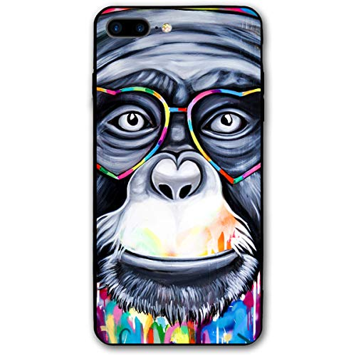 iPhone 7 Plus Case/iPhone 8 Plus Case Monkey Face Soft Rubber Cover Lightweight Slim Printed Protective Case