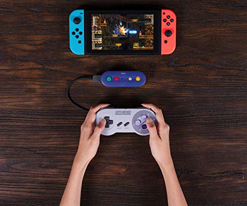 51R9ptJBEoL - 8Bitdo Gbros. Wireless Adapter for Nintendo Switch (Works with Wired GameCube & Classic Edition Controllers) - Nintendo Switch