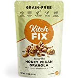 Kitchfix Grain-Free Paleo Granola | Vegan Plant-Based Protein From Nuts and Seeds | Certified Gluten-Free | Low Sugar, Low Carb Granola | Roasted in Pure Coconut Oil | Honey Pecan 10 Ounce