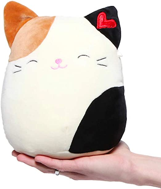 "Squishmallow Kellytoy 12/"" Oliver Calico Cat Super Soft plush Valentine's Gift"