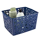 Design Bathroom Vanity Units mDesign Floral Bathroom Vanity Organizer Bin for Health and Beauty Products/Supplies, Towels - 10