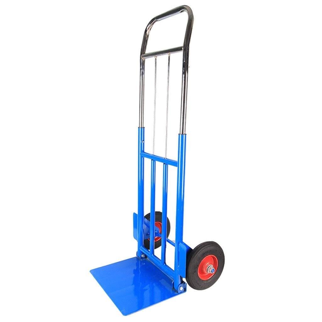 トロリー - 青いトロリー二輪トロリーモバイルツールハンドプルフラットトラックプルトラックハンドカード - ロード100 Kg B07SST8B27