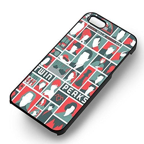 Unique Twin Peaks Collage pour Coque Iphone 5 or Coque Iphone 5S or Coque Iphone 5SE Case (Noir Boîtier en plastique dur) M3E5OP
